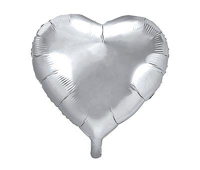 Ballon Mylar Aluminium Coeur Géant 45cm Argenté Discount