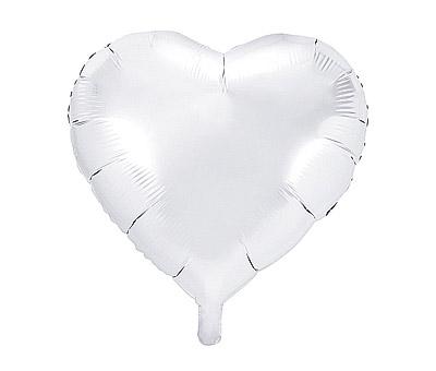 Ballon Mylar Aluminium Coeur Géant 45cm Blanc