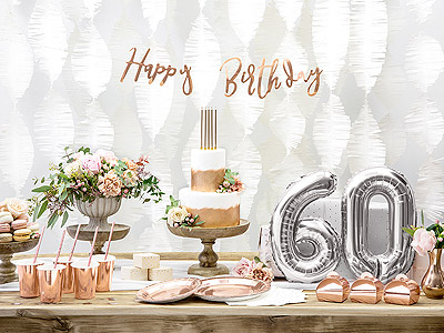 Ballon chiffre anniversaire 60 ans