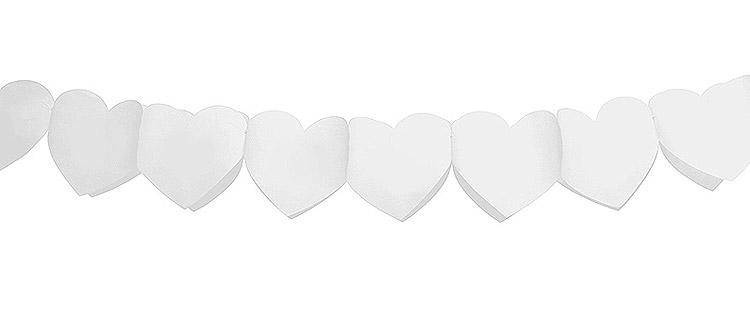 Banderole Coeurs Blanc