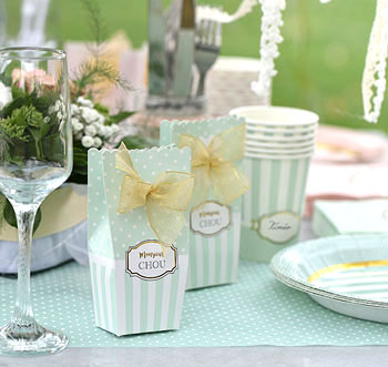 Déco de table Baby Shower vert
