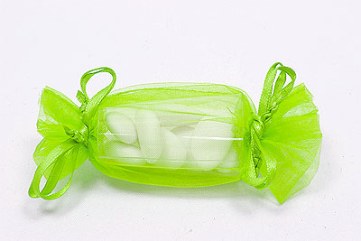 Bonbon Organdi Boite à Dragées Pas Cher Vert Anis