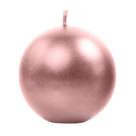 Bougie ronde sphère 8 cm rose gold