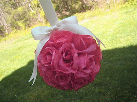 Boule roses artificielles Déco Fuchsia
