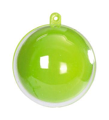 Boule Transparente 5 cm Vert Anis Contenant Dragées