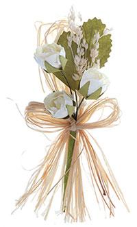 bouquet de 3 petites roses papier champetre