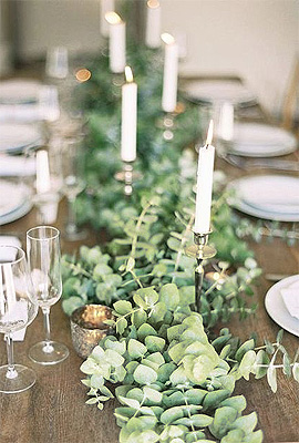 feuille eucalyptus décoration centre de table