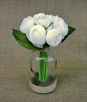 Pivoines artificielles en bouquet Déco