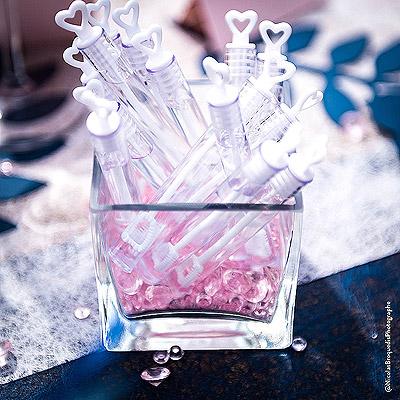 Photophore verre carré coupelle bulle savon & Diamants