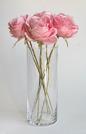 Bouquet fleur de camélia rose pastel
