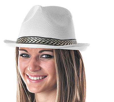 chapeau borsalino cadeau invit blanc cotillons serpentins. Black Bedroom Furniture Sets. Home Design Ideas