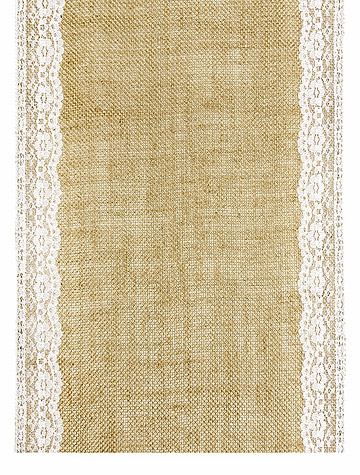 Chemin de Table Jute Bord Dentelle