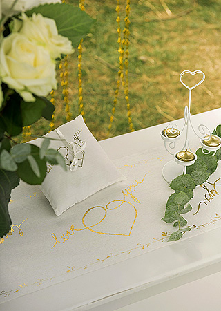 Décoration Table Just Married Gold Doré