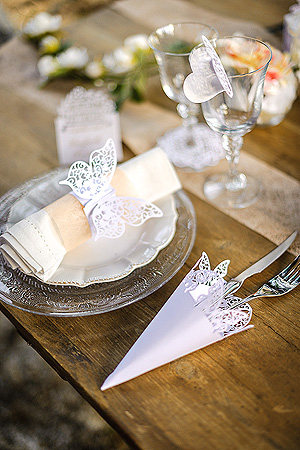 Décoration de Table Thème Papillon