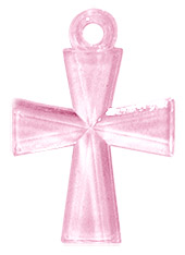Croix Transparente Scrapbooking rose