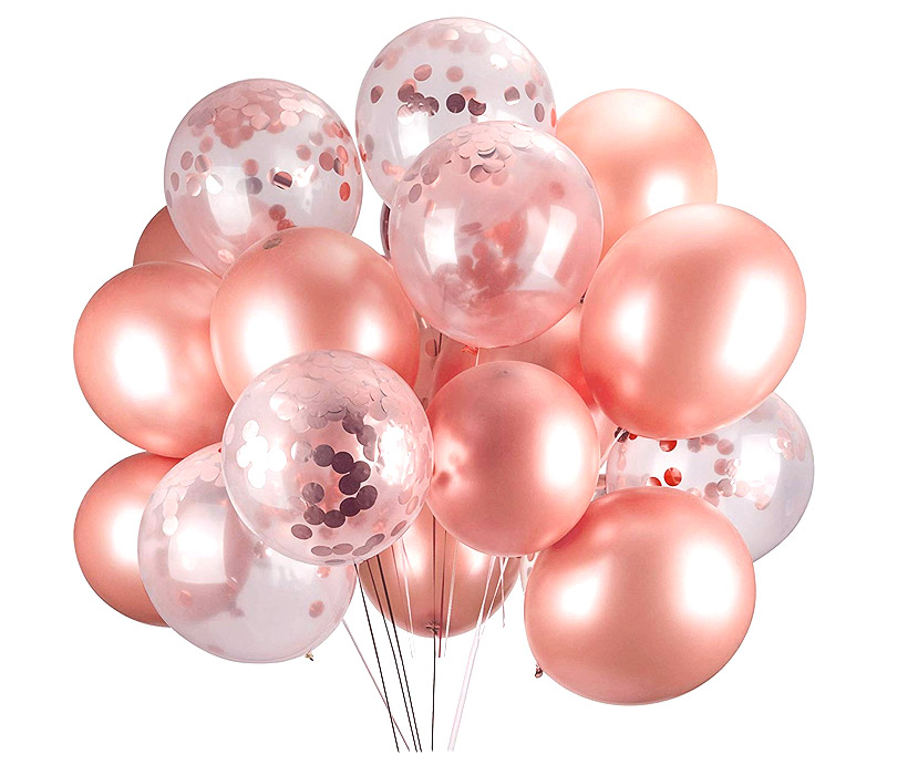 Décoration ballons rose gold