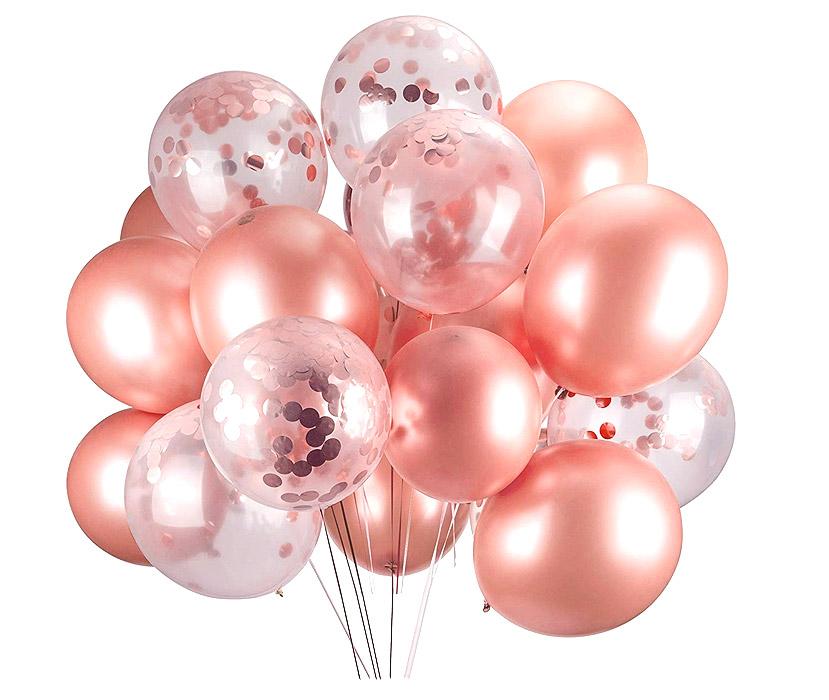 Décoration ballons rose gold