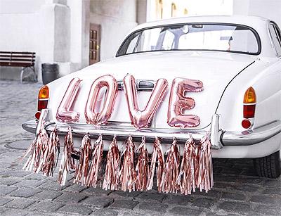 Déco Voiture Ballons Lettres LOVE