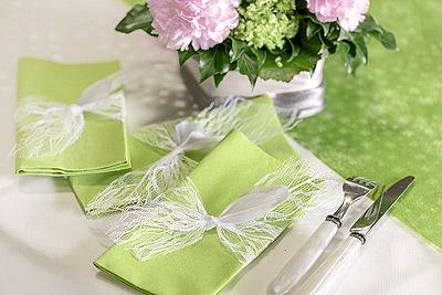 Décoration de table serviette dentelle