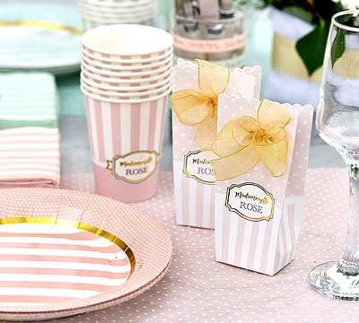 Déco de table Baby Shower Rose pastel