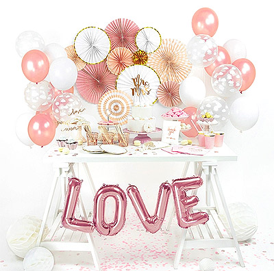 Decoration Table Candy Bar Blanc Rose