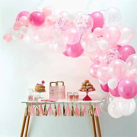 Décoration Baby Shower Baby Girl Arche Ballon