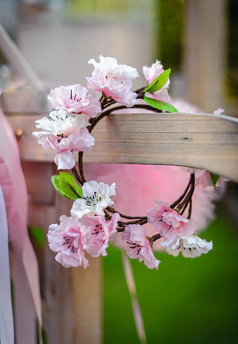 Couronne Fleurs De Ceriser Mariage Champetre