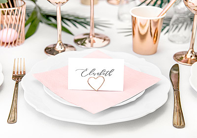 Marque Place Coeur Rose Gold x10