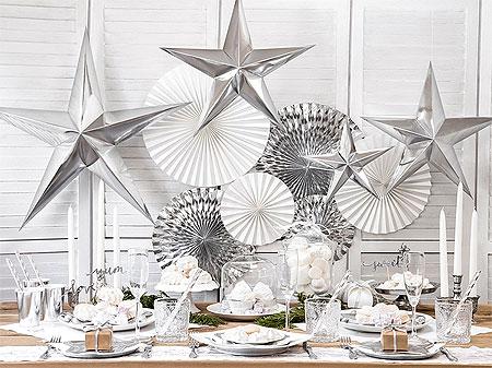 Decoration Salle Fetes Blanc Argenté