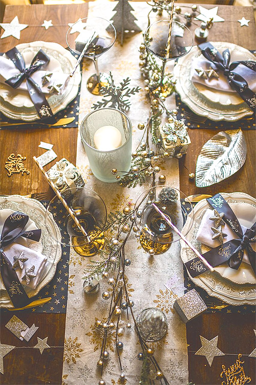 Decoration Table Féerique Argent