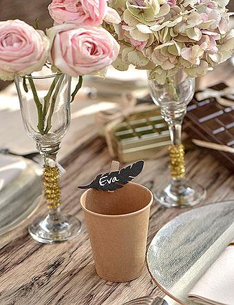 Décoration de table pastel