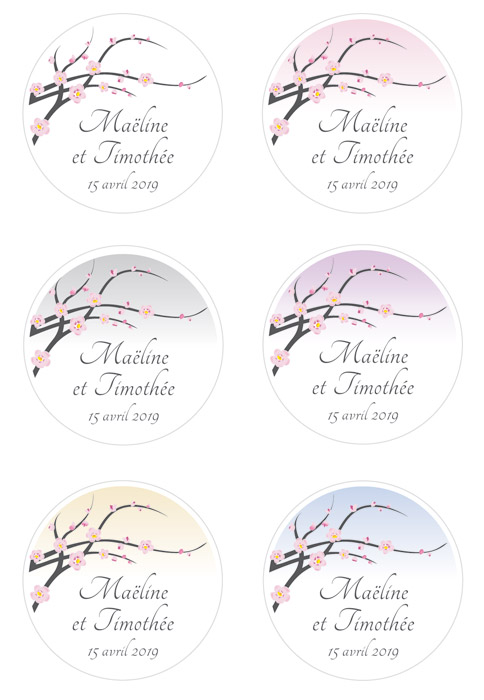 Étiquettes Personnalisées Cerisier