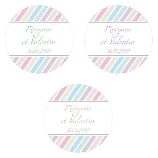 Etiquette Personnalisée couleurs pastel