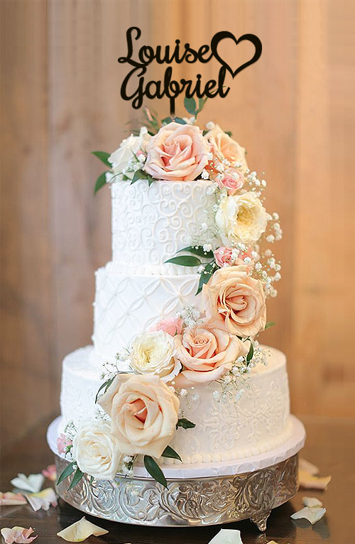 Cake Toppers personalisé Brillant Gateau Mariage just maried