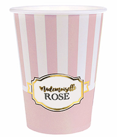Gobelet Baby Shower Rose pale