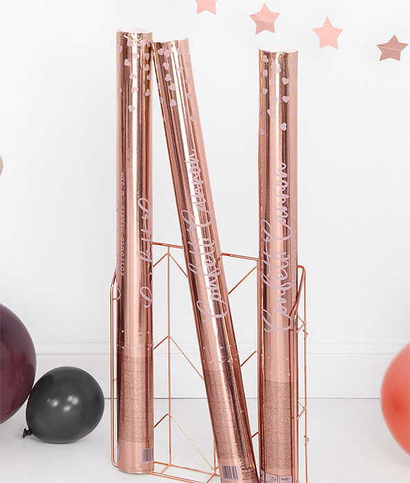 Grand Tube Confetti Rose Gold Mariage