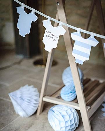 guirlande de body baby shower ciel baby shower. Black Bedroom Furniture Sets. Home Design Ideas