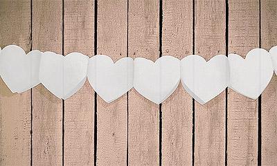 Guirlande Coeur Blanc