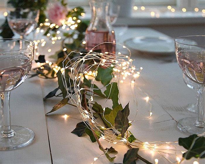 Guirlande Led Lumineuse Déco Centre Table