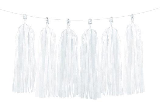 Guirlande Tassel Blanc Mariage