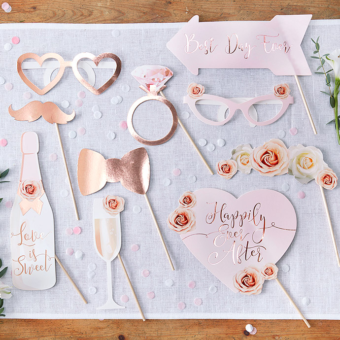 Photobooth Mariage Rose Gold Pas Cher