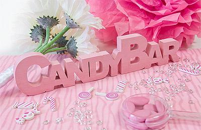 Lettres en Bois Candy Bar Rose