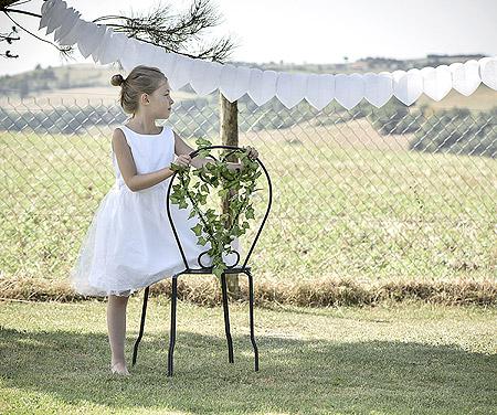 Guirlande Coeur Décoration Blanc
