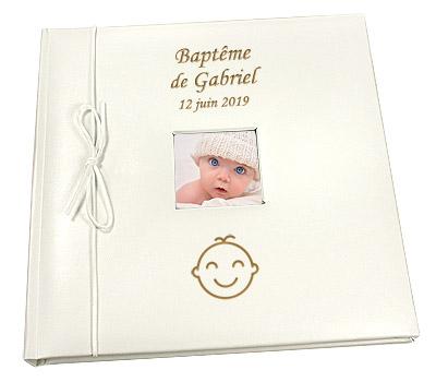 Livre d'Or Album Photo Personnalisé Baptême Bébé