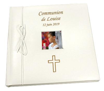 Livre d'Or Album Photo Personnalisé Communion