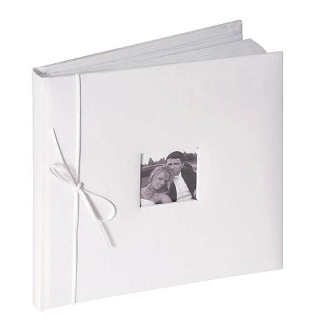 Livre D'or Album Photo Blanc Effet Cuir