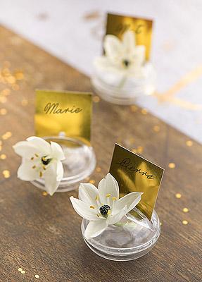 Marque Place Pvc Discount Transparent Soliflore avec Orchidée