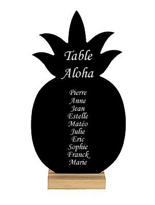 Ardoise Ananas Plan de Table Pas Cher