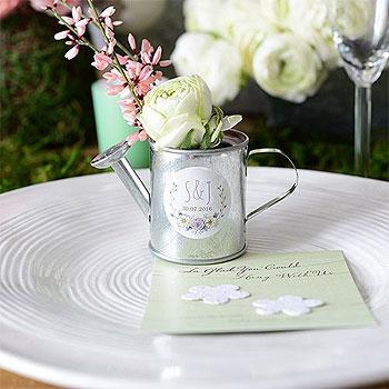 Mini arrosoir en zinc vase champêtre