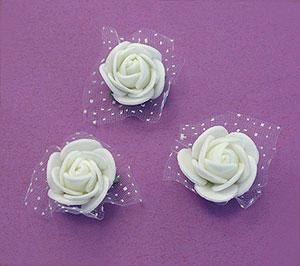 Petites roses blanches autocollantes